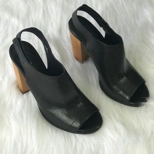 Audrey Brooke Stacked Wooden Heel Booties